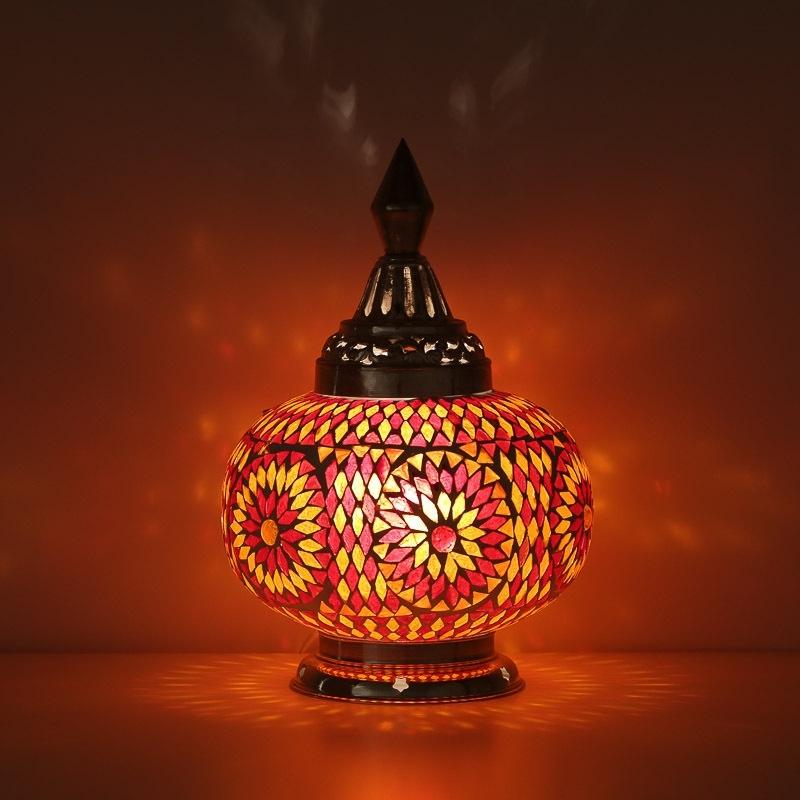 Oranje Tafellamp Turkish Oosters