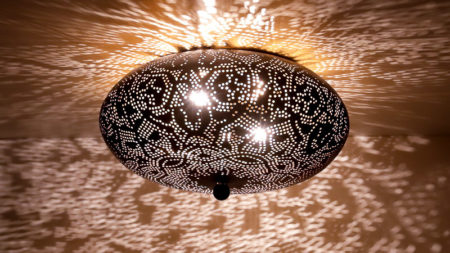 Oosterse plafondlamp Arabische lampen Marokkaanse lamp Mozaïek en Filigrain