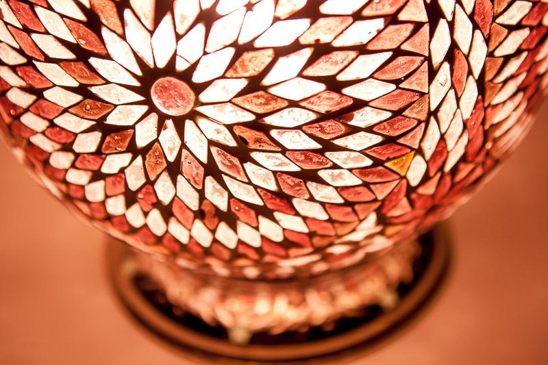 Mozaïek|Tafellamp|Paars|Papaya