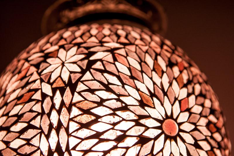 Oosterse|Hanglamp|Paars|Mozaiek