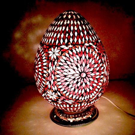 Oosterse|tafellamp|Mozaïek|Paars
