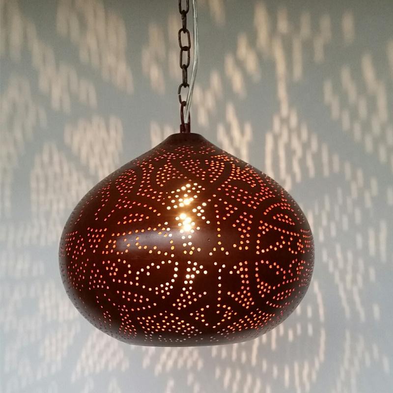 Bruinelamp|Donkere|Hanglamp