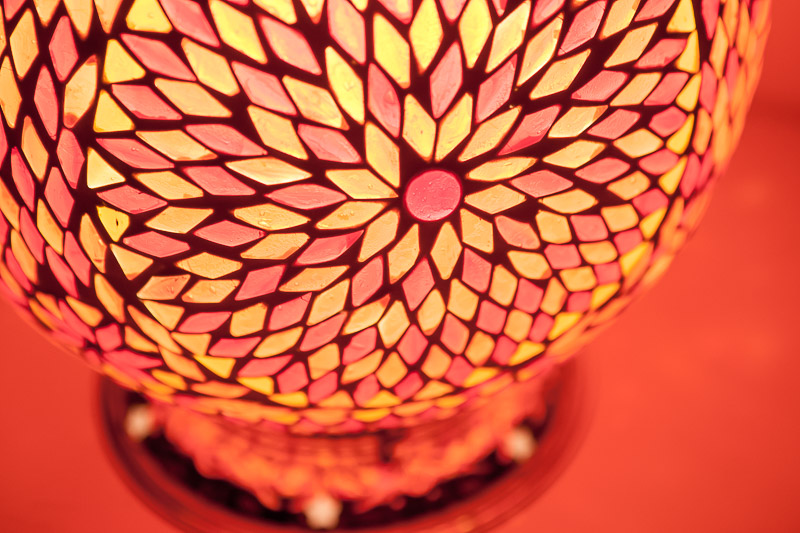 mozaiek|Tafellamp|Sfeerlicht