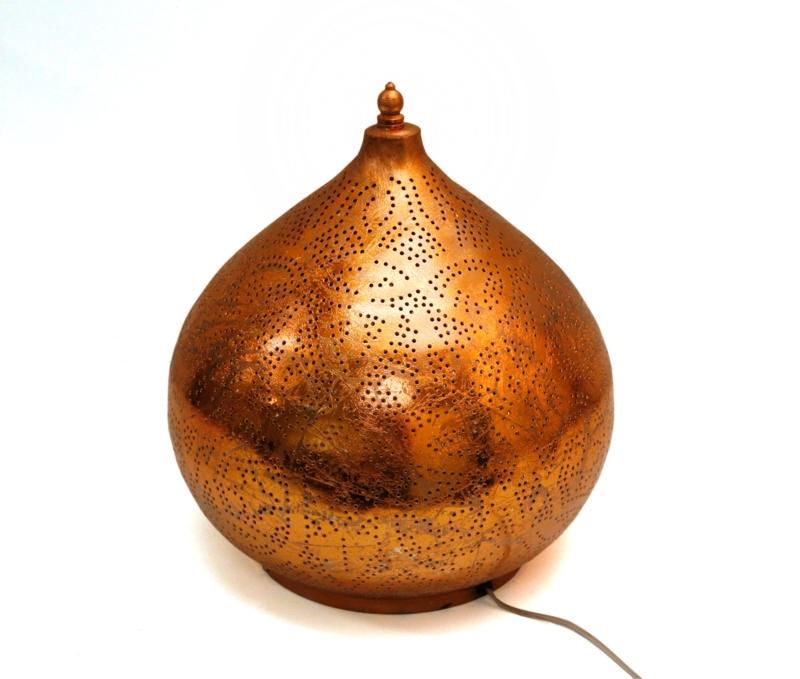Oosterse|Tafellamp|Vintage|Koper|Filigrain