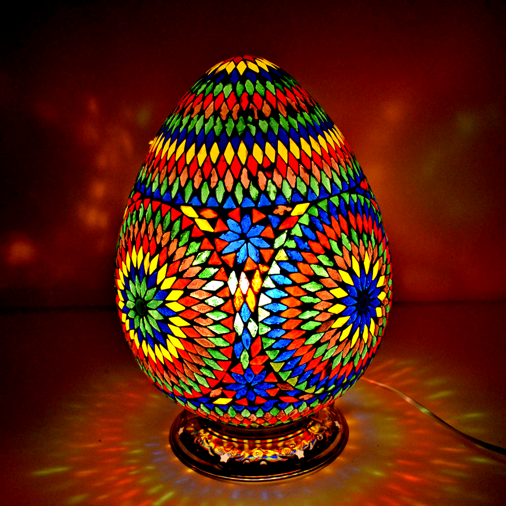 tafellamp oosters mozaiekpapaya designunieke kleuren