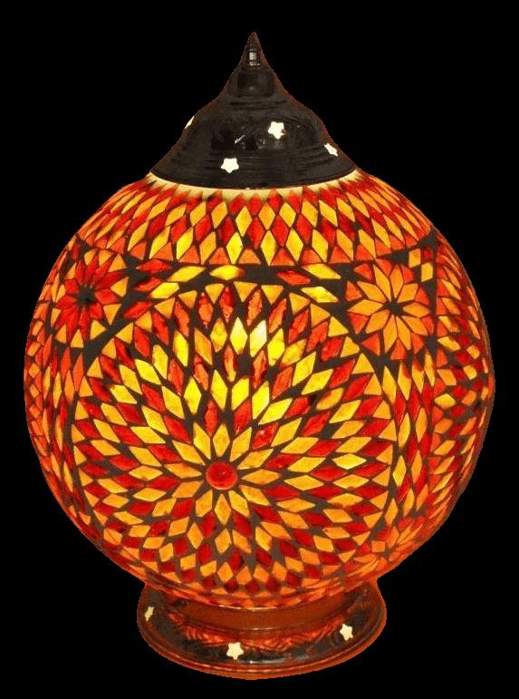 Arabische tafellamp glasmozaiek en filigrain