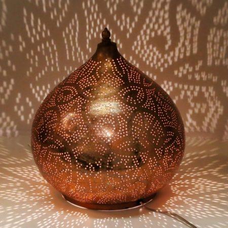 Oosterse|Tafellamp|Filigrain|Vintage|Koper