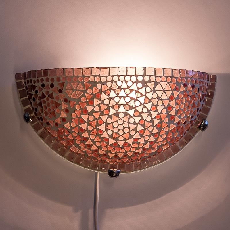 Mozaiek|Wandlamp|Paars|Oosterse|Lampen|Amstelveen