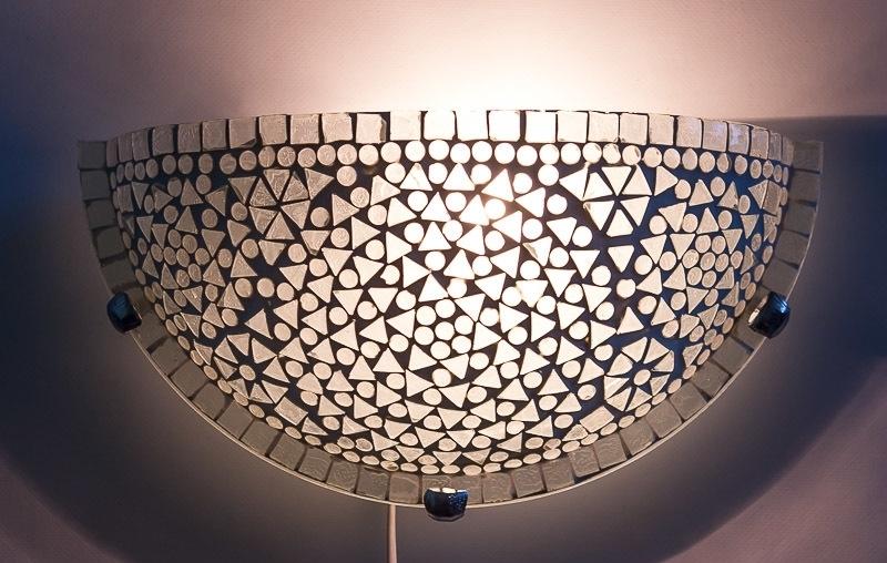 Mozaïek|Wandlamp|Wit|Luxe|Lampen