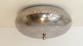 Oosterse plafonnière Filigrain | Marokkaanse lampen zilver