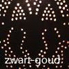 Oosterse filigrain lamp | Marokkaanse tafellamp | Metaal | Gaatjes | Zwart | Goud